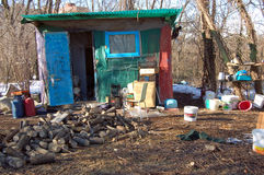 Homeless hut Royalty Free Stock Images