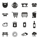 Homeless Icons Royalty Free Stock Image