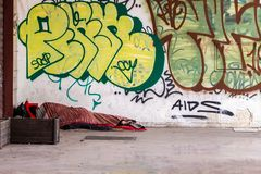 Homeless and indifference stock images