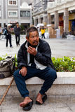 Homeless man Stock Photography