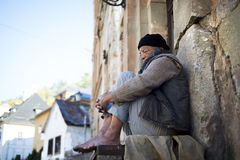 Homeless man Stock Images