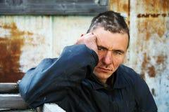 Homeless man in despair Stock Photo
