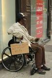 Homeless man at Greenwich Village in Lower Manhattan Stock Image