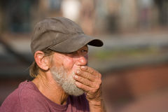 Homeless man hand Royalty Free Stock Images