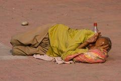 Homeless man in Haridwar, India. Stock Photography