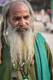 Homeless man in long beard Stock Images