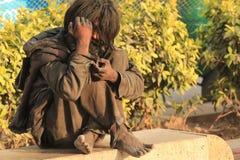 Homeless Man. NEW DELHI, INDIA, MARCH 6:  Homeless man from New Delhi, India Stock Photo