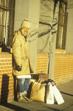 Homeless man, New York City, New York Royalty Free Stock Images