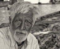 Homeless man In a Park Royalty Free Stock Photography