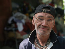 Homeless man portrait Royalty Free Stock Image