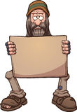 Homeless man with sign Royalty Free Stock Photo