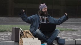 Homeless man won jackpot