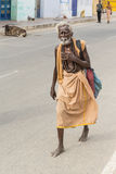 Homeless man sleeping India Royalty Free Stock Photography
