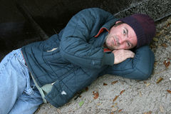 Homeless Man - Society's Problem royalty free stock photos