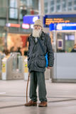 Homeless man at Utrecht Central Railway Station, Netherlands Stock Images