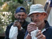 Homeless men Stock Images