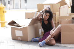 Homeless model Royalty Free Stock Images