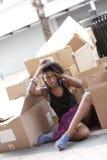 Homeless model Stock Images