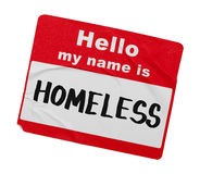 Homeless Name Tag Royalty Free Stock Images