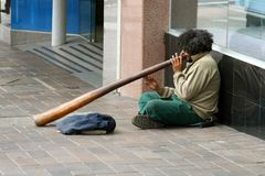 Homeless native australian Stock Photography