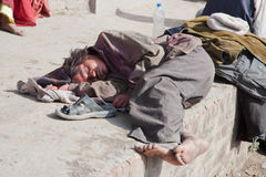Homeless in Nepal Stock Photography