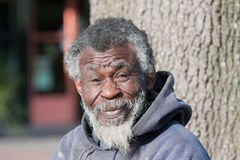 Homeless old African American man Stock Image