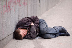 Homeless outside Royalty Free Stock Photography