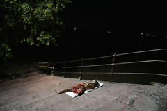 Homeless People Of Kolkata Royalty Free Stock Photo