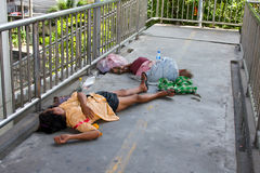 Homeless people in Thailand Stock Images