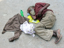 Homeless Person Royalty Free Stock Images