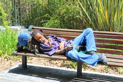Homeless person Royalty Free Stock Image