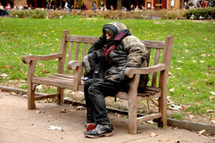 Homeless person Royalty Free Stock Photography