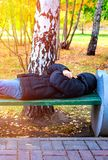 Homeless Person outdoor royalty free stock image