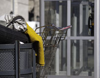 Homeless person's belongings Royalty Free Stock Images