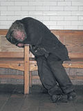 Homeless Person Sleeping. Stock Image