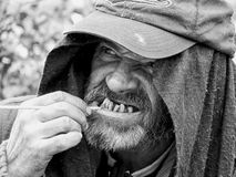 Homeless portrait stock photo
