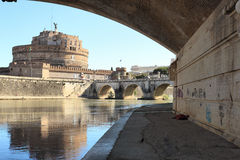 Homeless in Rome Royalty Free Stock Images