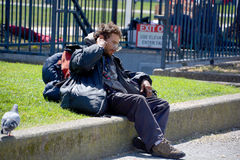 Homeless. SAN FRANCISCO CA USA 04 12 2015: Homeless has one of the Golden State most intractable problems. In San Francisco words like crisis and epidemic often Royalty Free Stock Image