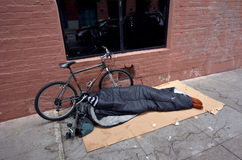 Homeless in San Francisco California Royalty Free Stock Photography