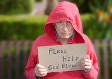 Homeless senior man Stock Images