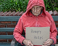 Homeless senior man Stock Photos