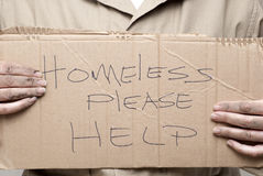 Homeless Sign royalty free stock images