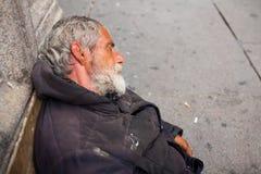 Homeless sleeping royalty free stock photography