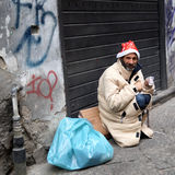 Homeless smile Royalty Free Stock Image
