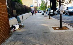 Homeless in the streets Royalty Free Stock Photos