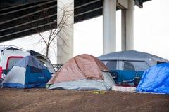 Homeless Tent Camp Portland Oregon Royalty Free Stock Photography