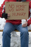 Homeless, unemployed, hungry Stock Image
