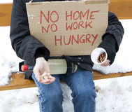 Homeless, unemployed, hungry Stock Images