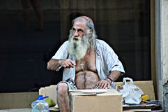 A homeless 55 Stock Photography