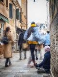 Homeless in Venice begging money